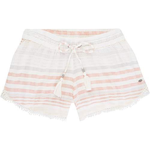 O'Neill Damen LW Jacquard Lace Detail Shorts, Weiß All Over Print mit Pink/Lila, XL -