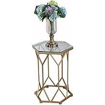 GroBartig LJF Eisen Couchtisch, Glas Marmor Kleine Geometrische Tabelle Kreative  Möbel Metall Halterung Couchtisch 46 *
