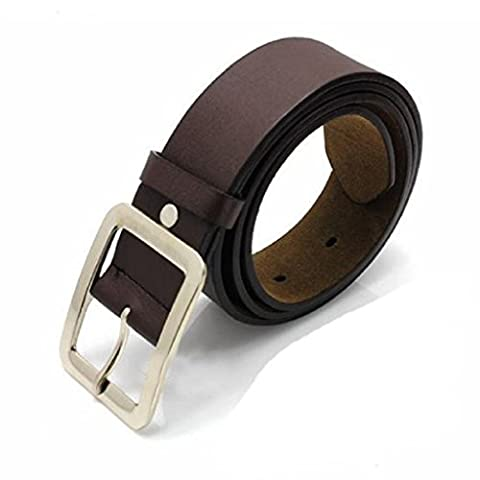 Kalorywee NEUF pour homme décontracté Business simili cuir Boucle de ceinture Ceinture de sangle de taille, Homme, Mens Belts, café