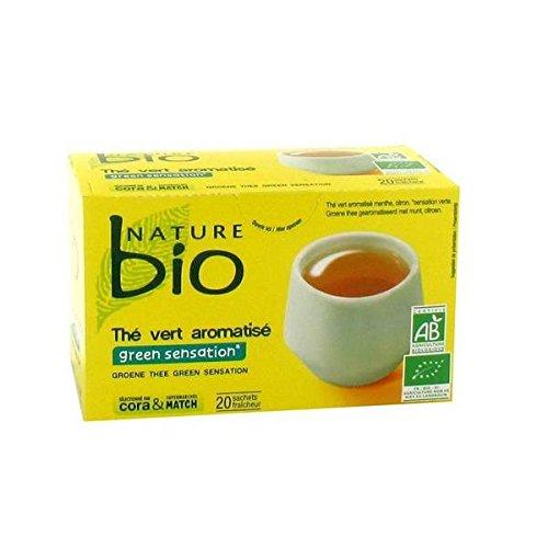 Nature bio thé vert green sensation 20 sachets 33g - ( Prix Unitaire ) - Envoi Rapide Et Soignée