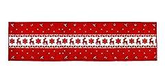 Idea Regalo - Vetrineinrete® Tappeto Runner Natalizio da Cucina e corridoio Lungo con Gomma Antiscivolo 280x57 cm Decorazioni Natalizie addobbi di Natale per la casa (Renne)