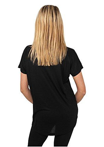 Ladies Loose Tee shirts Urban Classics Streetwear Donna Black