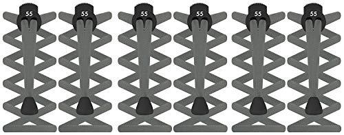 4db407c846c8 55 Sport® FLAT Elastic Lock Shoelaces (Grey (3 Pack))