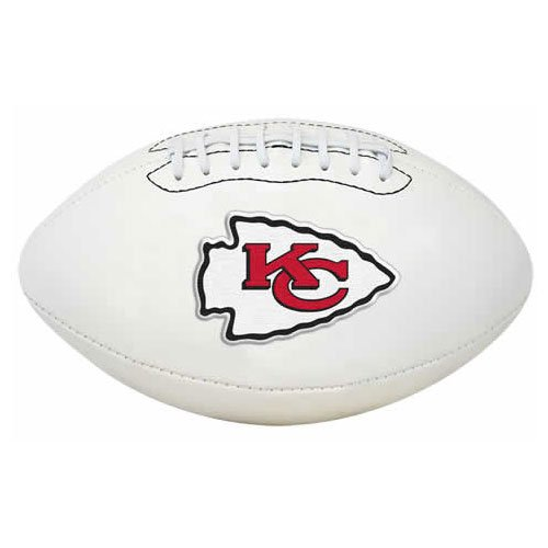 The License Products Company NFL Signature Series Team Full Size Fußball, K2FBSIGKAN, Kansas City Chiefs