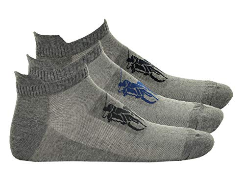 Polo Ralph Lauren Herren Sneakersocken, 3er Pack - großes Logo, One Size, grau