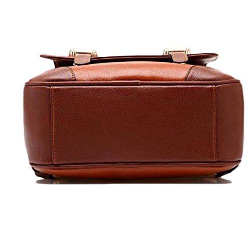 Dame-Schulter-Beutel-Handtaschen-koreanische Versions-College-Art-Dual-Gebrauch Freizeit Retro Art Und Weise PU-Männer Und Frauen-Schule-Beutel E