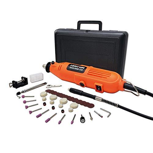 Strumento Multifunzione,Utensile Rotante con 40 Accessori, Mini Drill con Velocita' Variabile per Incidere, Tagliare, Trapanare ecc