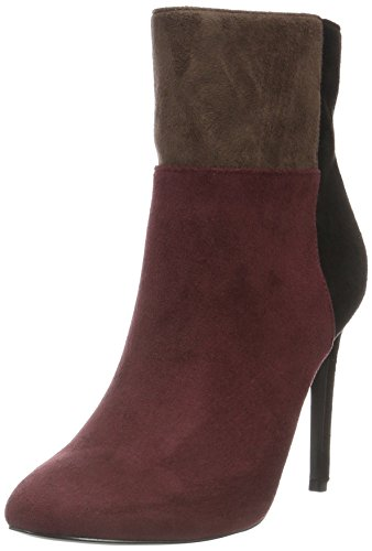 Blink Damen Alanis Kurzschaft Stiefel, Mehrfarbig (Bordeaux/Black/D. Brown 1765), 38 EU (5UK) (Ankle High Nappa Heel Boot)