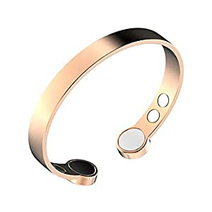 Rosian & Levine ️ Magnetic Pure Copper Arthritis Therapy Bracelet with Extra Strong Magnets for Carpal Tunnel Migraine Menopause - Unisex Copper Bracelet