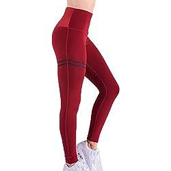 Juleya Leggings Mujer Cintura Alta Pantalones Yoga Mella Mujeres Pantalones Deportivos Push up Pantalones de Correr Suaves y cómodos Leggings elásticos para Gimnasia Entrenamiento físico