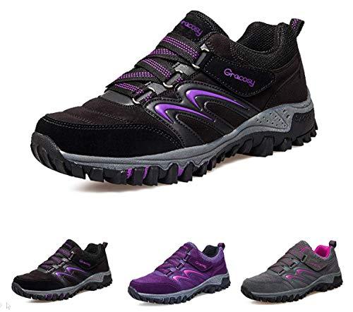 gracosy Zapatos con Cordones Low-Rise para Mujer