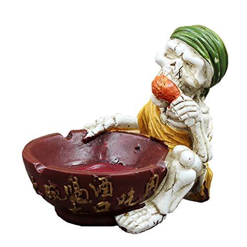 Yangtt skull posacenere - ornamenti d'epoca - personalità creativa