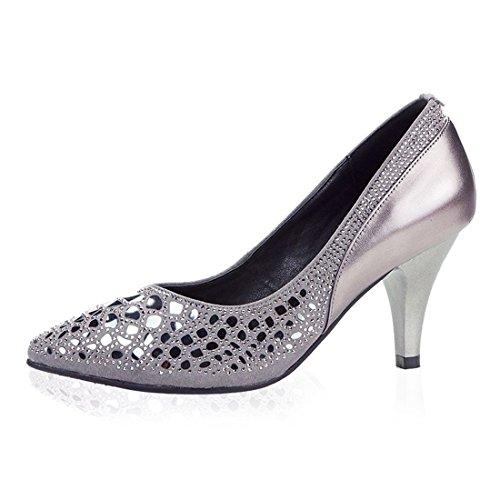 Wxmddn Señoras Zapatos De Baile Latino Zapatos De Baile Cuero Gris Tierra Suave Al Aire Libre Danza Moderna Danza Zapatos De Baile Zapatos De Mujer Gris Al Aire Libre