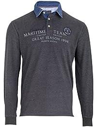 Kitaro Polosweat Sweatshirt Polo Sweat Shirt Herren Langarm Plusgröße  Übergröße 7a4f078968