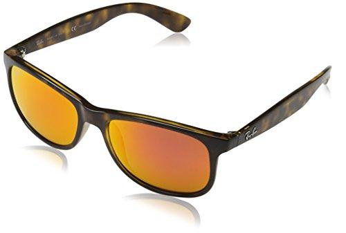 Ray-Ban Herren Sonnenbrille Andy, Mehrfarbig (Gestell: Havana,Gläser: Orange Polarisiert 710/6S), Medium (Herstellergröße: 55)
