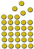 TimeTex Magnet-Punkte 200 Stück - selbstklebend - 12 mm im Durchmesser - Stärke: 1,2 mm - schwarz - TimeTex 93291 - selbstklebende Magnetplättchen rund - Magnete
