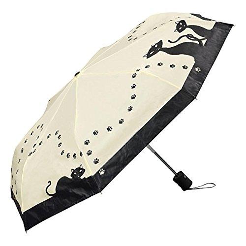 MySchirm Designer Taschenschirm Motivschirm 'Schwarze Katzen'- Eleganter Regenschirm - Luxus Design - Automatikschirm