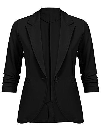 Beyove Blazer Damen Anzug Elegante Business Blazer Jacke Casual Kurzer Blazer mit Taschen