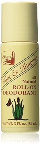 Alvera Aloe (Alvera All Natural Roll-On Deodorant Aloe and Almonds - 3 oz Pack of - 4 by Alvera)