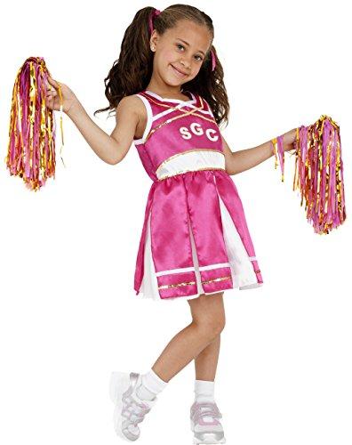 Girl Ideen Go Kostüm (Smiffys Kinder Cheerleader Kostüm, Kleid und Pompons, Größe: L,)