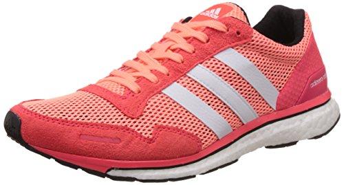 adidas Adizero Adios 3W, Damen Laufschuhe, Rot / Weiß (Brisol / Ftwbla / Rojimp), 36 2 / 3 EU