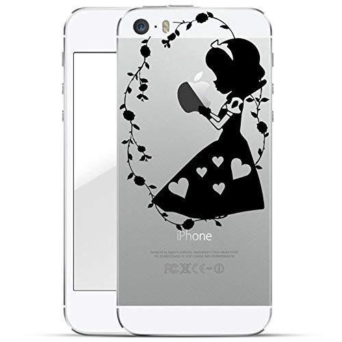 finoo | iPhone 5 und 5S Hard Case Handy-Hülle mit Motiv | dünne stoßfeste Schutz-Cover Tasche in Premium Qualität | Premium Case für Dein Smartphone| Mädchen hält Apfel