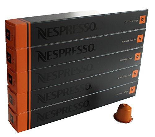 Nespresso Capsules orange - 50x Linizio Lungo - Original Nestlé - Lungo Coffee