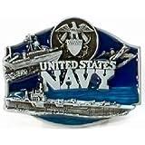 Blue Us Navy Belt Buckle