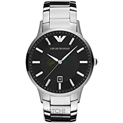 AR2457 Gents Armani Stainless Steel Black Dial Watch