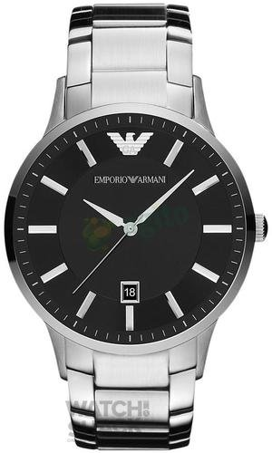 AR2457-Gents-Armani-Stainless-Steel-Black-Dial-Watch