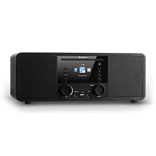 auna IR-190BK • Internetradio • Digitalradio • WLAN-Radio • Netzwerkplayer • Bluetooth • MP3-USB-Port • AUX • Wecker • Sleep-Timer • 2,8-Zoll-TFT-Farbdisplay • Dimmfunktion • schwarz