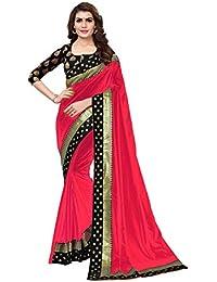 Anni Designer Women's Sana Paper Silk Saree With Banarasi Silk Blouse & Border