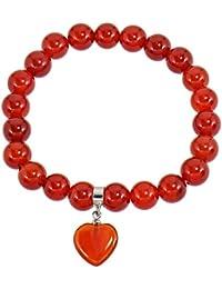 CARNEOL KARNEOL  Armband ca 19 cm Kugelarmband  Stretcharmband 4 mm Perlen