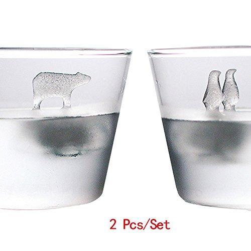 lzn 2Silicona Forma Cubitos de Hielo Bola Forma Big Size Pingüino & Oso Polar para Adultos con Biere cócteles Whisky 6.75x 6.1cm