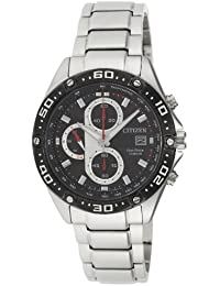 Citizen Eco-Drive Analog Black Dial Men's Watch - CA0030-52E-22 cm