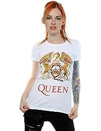 Queen mujer Crest Logo Camiseta