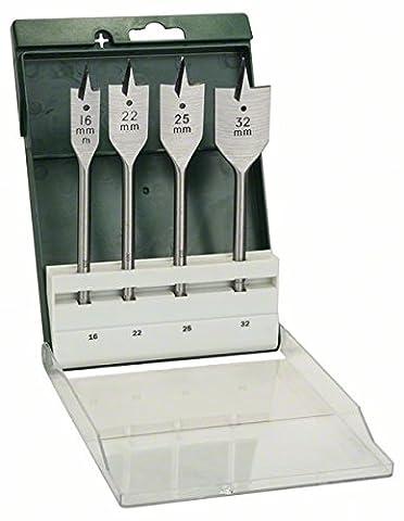 Bosch 2609255275 Jeu de 4 mèches à bois plates
