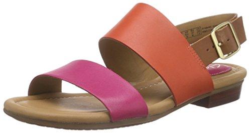 Clarks - Viveca Aztek, Sandalo da donna, rosa (fuchsia leather), 35.5