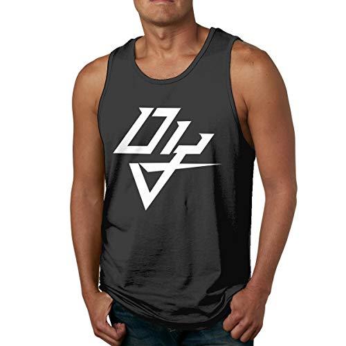 Abigails Home DaddyYankee Logo Herren Tank Top Ärmellose Shirts T-Shirt Basketball Sport T-Shirt T-Shirts Outdoor Fitness(3XL,Schwarz) -