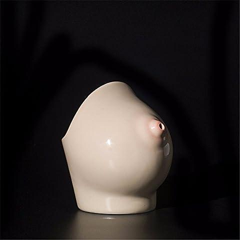 Einfache Persönlichkeit Brust Keramik Tasse kreative Aschenbecher