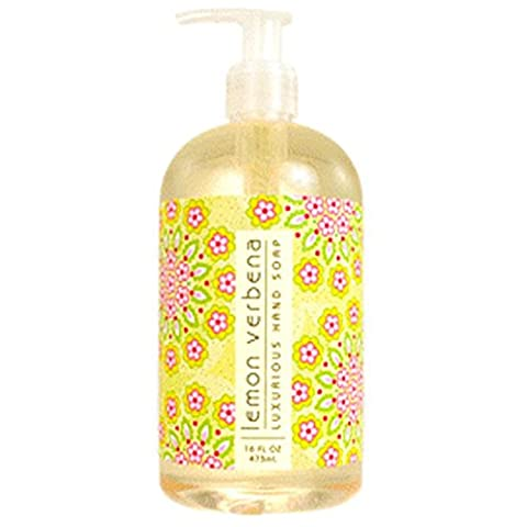 Greenwich Bay Lemon Verbena Shea Butter Hand Soap Enriched with Lemon Extracts, Cocoa Butter, Virgin Olive Oil and Grapeseed Oil 16 oz by Greenwich Bay Trading Company