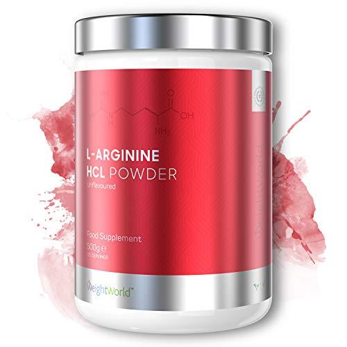 L-Arginina HCL in Polvere 500g - Integratore di Arginina Con Ossido Nitrico - Amminoacido per Migliorare Flusso Sanguino e Crescita Muscolare - Proteine in Polvere 100{b16c4670e2a3e07f66de8d3380c210395b99777008cd079639b3adbf0229fa43} Vegane - Vasodilatatore
