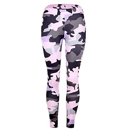 Perfectii Damen Leggings Camouflage Print Yoga Leggings Hose Yogogo Pants Elastic Sport Workout Leggins Training Tights Strech Sweathose