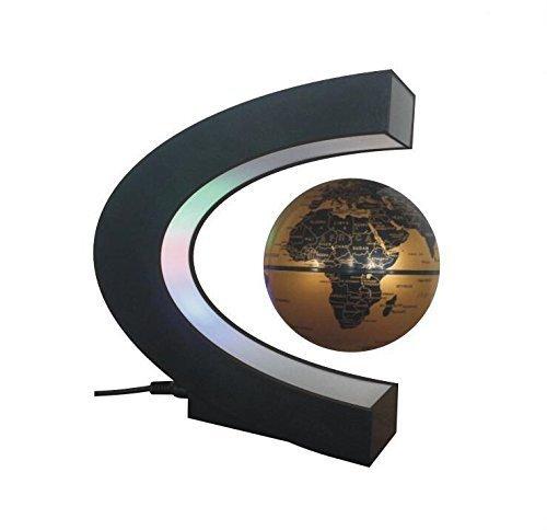 YiaMia Dekoration MLS-Magnet-Auftrieb, Tellurion, Globus, 3Zoll, LED, Schwerkraft in C Form, Spielzeug für Zuhause - Mls-led