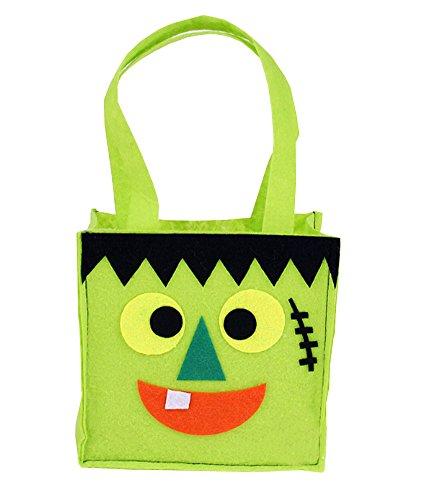 z von 3 Halloween Scherzt Süßigkeit-Tasche Grüne Geist-Süßigkeit-Tasche ()