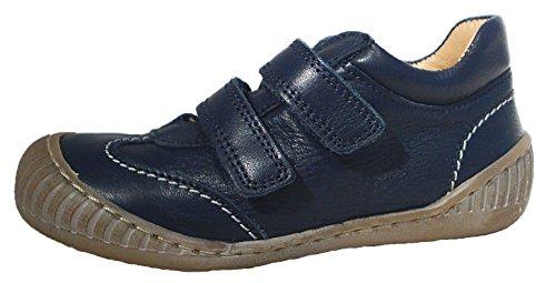 Pom Pom Unisex Sneaker Halbschuhe Klettverschluss Leder blau (34)