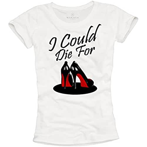 dia del orgullo friki I COULD DIE FOR - Camiseta con zapatos mujer tacon fiesta