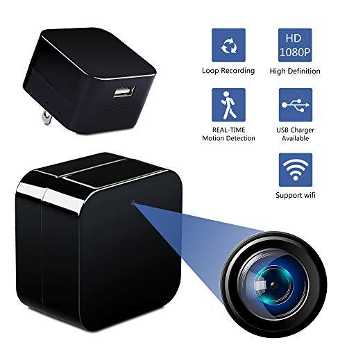 Alfheim Mini cámara espía, WiFi Cámara Oculta inalámbrica HD 1080P con  detección de Movimiento visión Nocturna Cámaras de Seguridad Interior,  Nanny