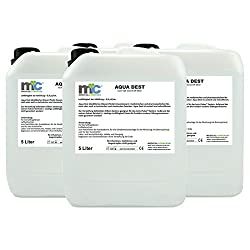 Aqua Dest destilliertes Wasser - 4x 5 Liter Kanister, Laborwasser 20 Liter