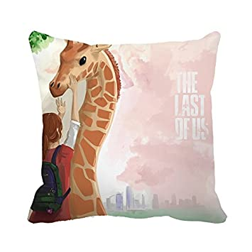 Warrantyll Throw Pillow Cover The Last of Us Giraffe and Girl